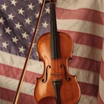 Flag and Violin Photography